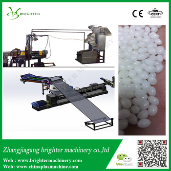 Underwater cutting type pelletizer for recycling non woven fabric pp pet pa pvc hdpe