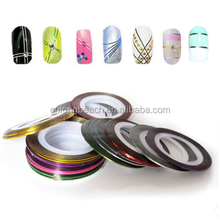 Thin Self Adhesive Silver Nail Art Decoration Nail Stripping Tape