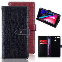 New Product High Quality PU Leather Flip Wallet Mobile Phone Accessories Shockproof Protective Back Cover for ZTE Nubia V18