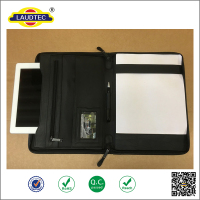 Multi-functional Zipped portable business travel leather portfolio cases cover for IPad Pro ------- Laudtec