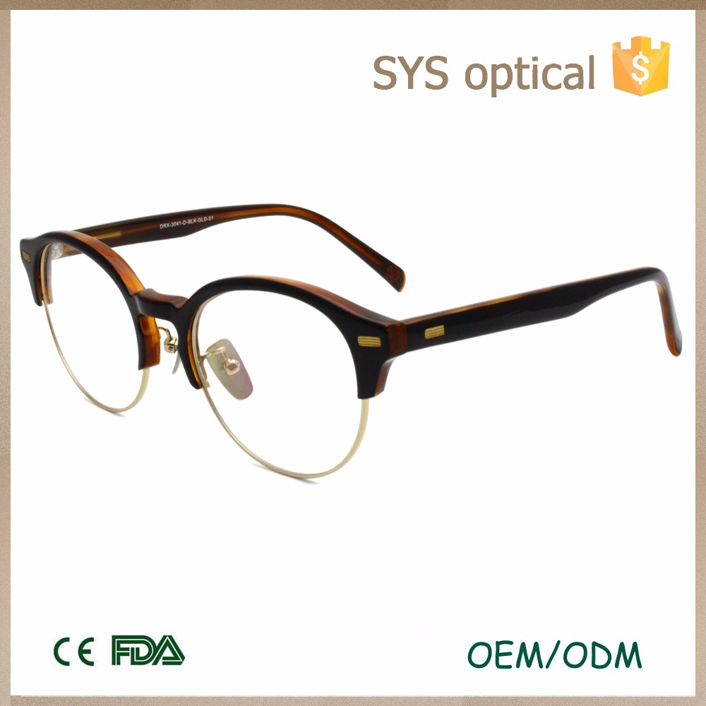 high quality eyebrow glassesframe,fresh two-layer acetate optic,all age fit optical frame