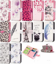9 card wallet leather case for iPhone 5C, multi-function case pouch for iPhone 5C