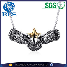 New Fashion Man Necklace Stainless Steel Casting Necklace Takahashi Goro Eagle Never Fade Pendant