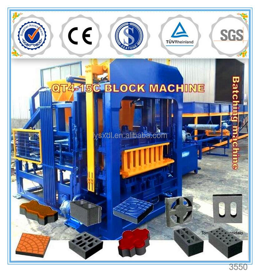 QT4-15C germany automatic concrete widely used concrete block making machine for sale in usa