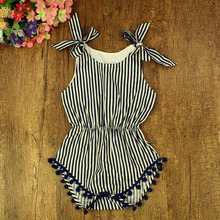 Newborn baby clothes bows waistelastic wholesale boutique vintage baby Pompom rompers