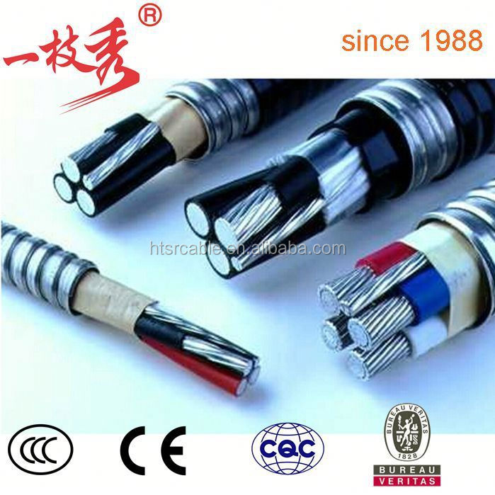 low voltage Interlocked armoured four core Rare-earth High-iron Aluminum Alloy Power Cable
