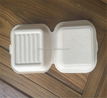 biodegradable disposable paper pulp bagasse box