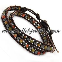 2014 china supplier the Latest colorful bean Diy Korea Fashion Bracelet