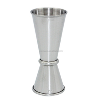 Crimping stainless steel cocktail jigger measuring cup 50ml measuring tools