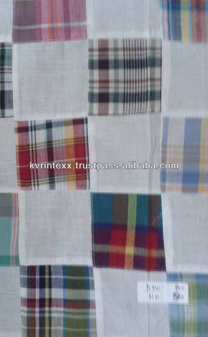 cotton grey patchwork fabric importers