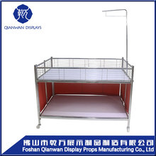 Metal boards supermarket metal free standing display rack