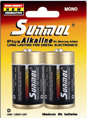 alkaline LR20 D best alkaline battery