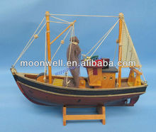 Wooden Fishing Boat Model,trawler model,ship model,trawlboat,souvenir,Nautical Gifts,Handicrafts Decorative Boat,home decoration