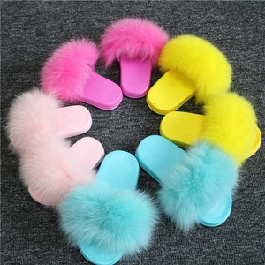Wonderful Baby Girl Shoes Furry Slide Slippers Pretty Good Kids Sandals With Fur