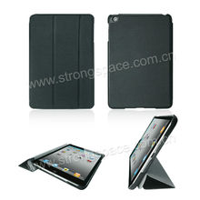Black 2013 newest brand stand leather case for ipad mini/for ipad mini cover smart case OEM
