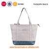 Hot Style Spliced Good-quality Casual Trendy Canvas Handbags with Leather Bottom for Travelling