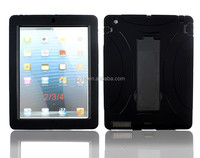 Popular top quality 2 in 1 layers rugged tough Armor rugged Case Cover hard heavy duty defender case For iPad 2 3 4