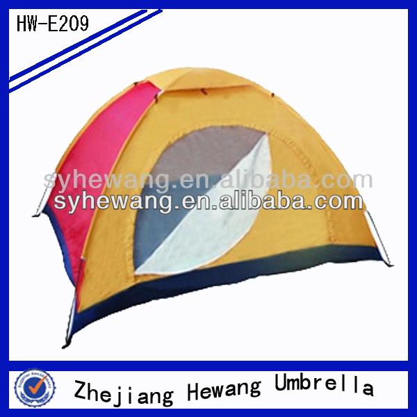3-4 person double layer family camping tent China supplier