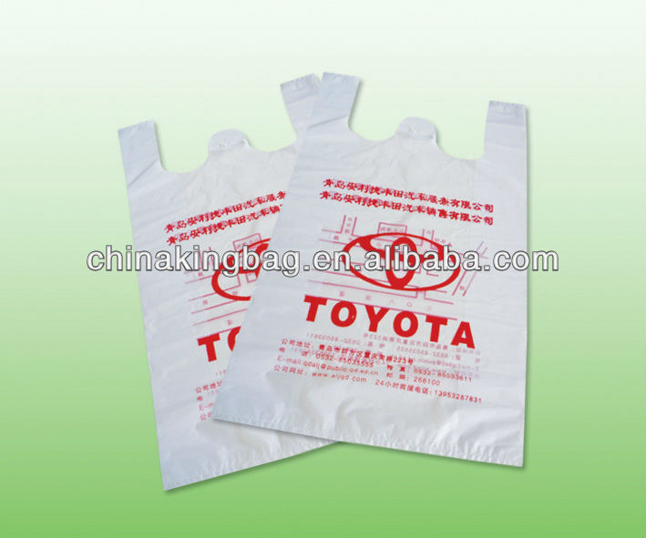 Biodegradable Plastic shopping t-shirt bag