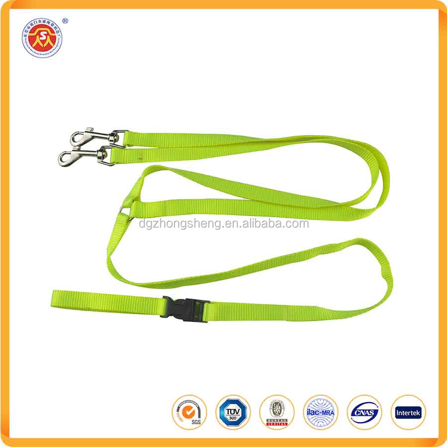 New Products Dog Leashes With Two Hooks Fluorescent Green