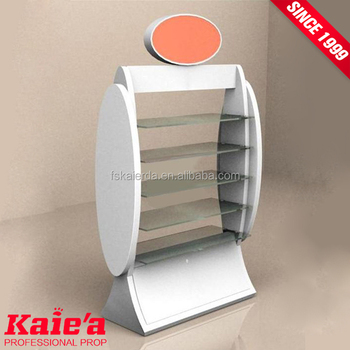 Cheap floor cosmetic stands cosmetic display shelf for cosmetic