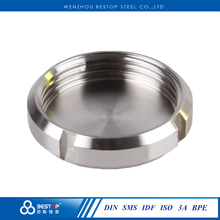 sanitary pipe fitting blind nut pipe fitting ISO / IDF / 3A