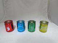 Mercury Painted Glass Mason Jar Hanging Tea Light Candle Holder