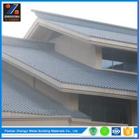 Light Weight Aluminum Spanish Style Roof Tile Instead of Porcelain Tile