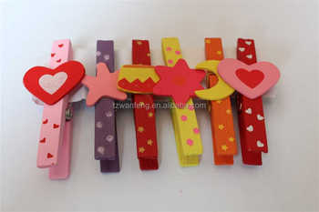 special design popular style wooden Clip wooden decorative clips