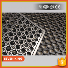 Qingdao 7king oil resistant clean safety surface kitchen rubber mat flooring with low price