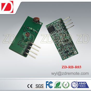 ZD-RB-R03 cheapest RF wireless 433MHZ superregeneration receiver module for AUTOMATION device