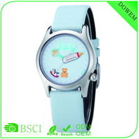 Feeder dial New design customized printed soft colorful genuine leather brand watch imitations