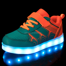 Top quality flat sneaker light men shoes kids LED shoe Fashion Night Light shoes for children