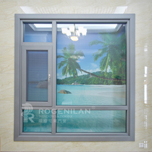 ROGENILAN 140 series thermal break residential aluminum frame tempered glass top hung window