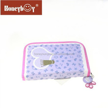 Cute nice looking zipper case and puller wholesale one layer wiht one flap pencil case