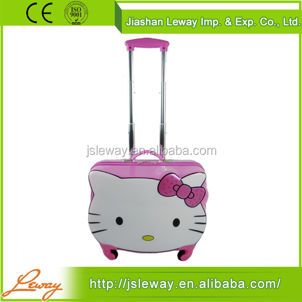 Wholesale cheap price china supplier good quality abs+pc girls travel trolley luggage bag