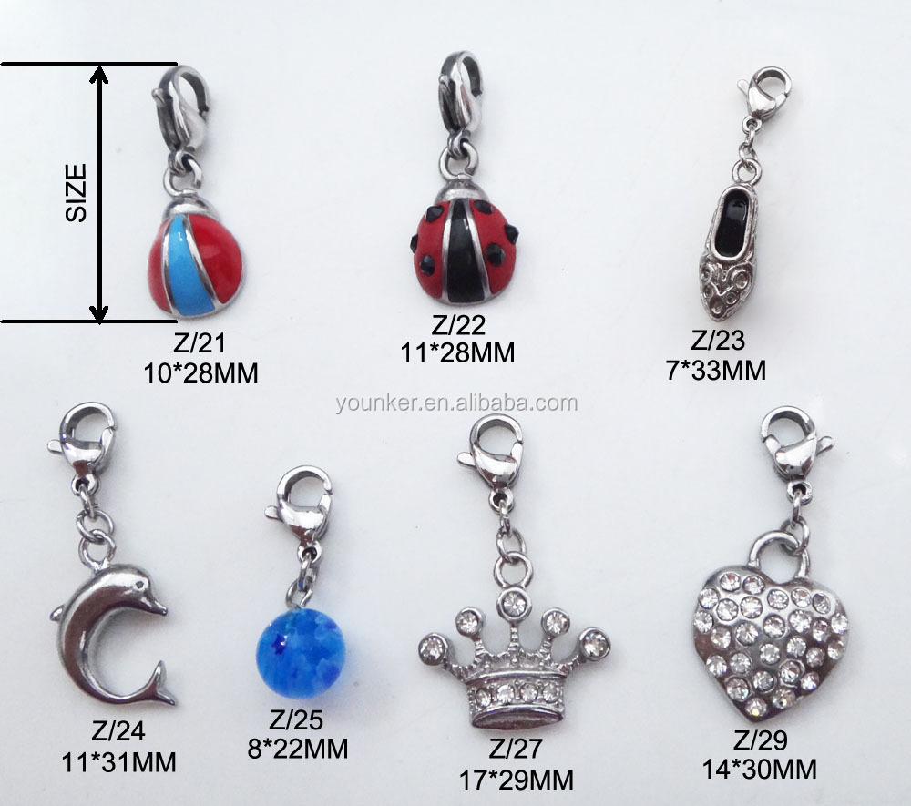 Beetle Shape Stainless Steel Metal Charms Pendant