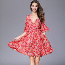 OEM Vintage Casual Dress Latest Dress Patterns Ladies Korean Fashion Model Summer Dresses For Women