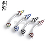 Stainless Steel Stripe Spike Eyebrow Piercing