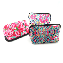 Waterproof travel neoprene cosmetic bag pouch