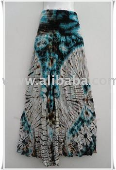 Hippie Gypsy Tie Dye Long Skirt /Dress