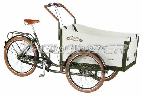 Holland style UB 9032 Nexus 7 speeds pedel three wheels cargo bike bakfiet/peda trike/reverse trike