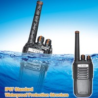 wireless handy transmitter ip67 two way radio px-558 compact design durable housing vox ani identification code antidroping