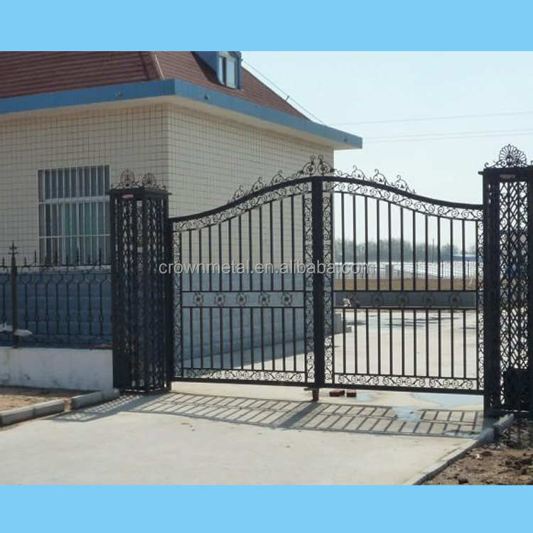 Cast iron flowers decoration countryard entry gate