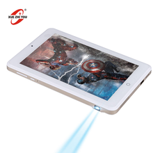 Newest hot selling 8 Inch tablet PC with projector function android tablet pc leather keyboard case