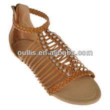lower price designer shoes 2013 flat sandals TH6005
