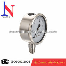 liquid filled all stainless steel pressure gauge