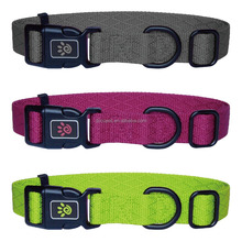 New design protective pet adjustable wholesale nylon dog collar Large Pink