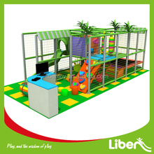 Small kids indoor playground with small indoor trampoline bed for soft play area