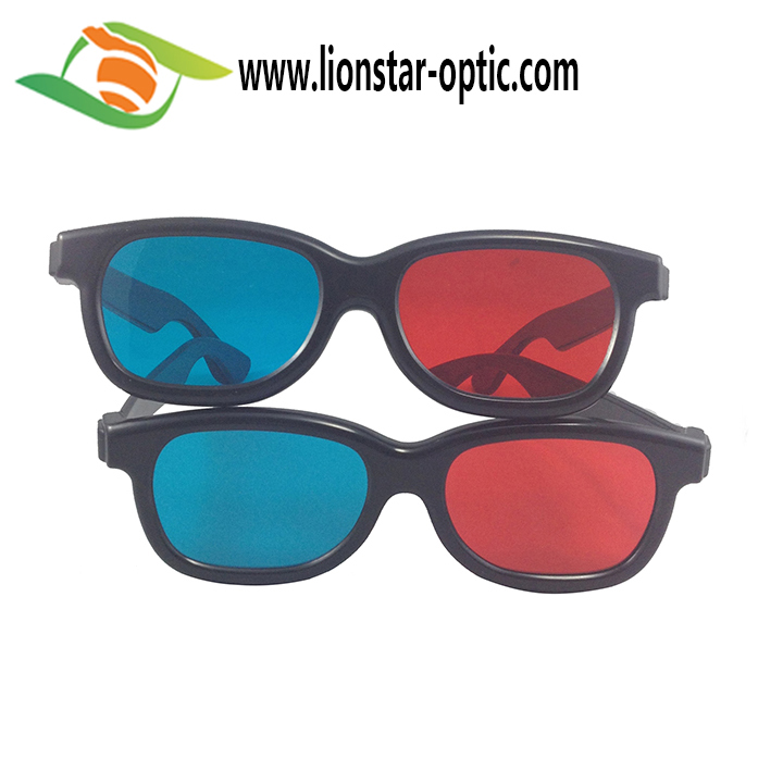May Promotion 5%-10% OFF Thicker Lens 1.6mm Red Cyan Glasses With Logo